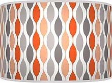 Geometric Coral Orange Pink Grey Giclee Style