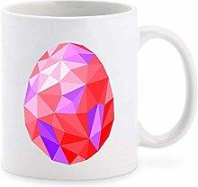 Geometric Crystal Glass Easter Egg Cartoon Art