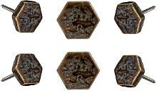 Geometric Knob Trinca-Ferro Finish: Brown