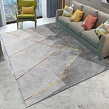 Geometric Modern Area Rug Luxury Low Pile Living