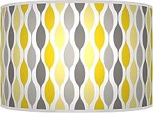 Geometric Mustard Yellow Grey Giclee Style Printed