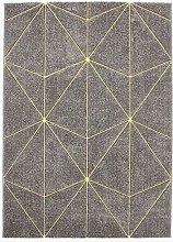 Geometric Pattern Rug, 133 cm x 190 cm, Grey