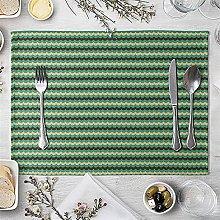 Geometric Patterns Distinctive Placemat Green