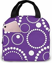 Geometric Purple Background Circles Cooler Bag