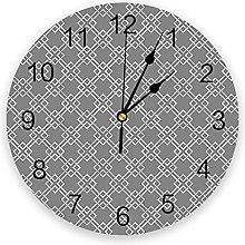 Geometric PVC Wall Clock, Silent Non-Ticking Round