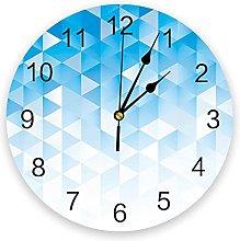 Geometric Silent Non Ticking Wall Clock, Battery