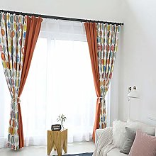 Geometric Splice Blackout Curtains Printed Thermal