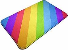 Geometric Striped Background Bright Rainbow Bath