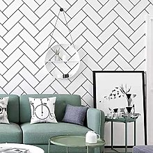 Geometric Waterproof PVC Wallpaper with Removable
