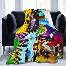 Geometry Dash Throw Blankets Microfiber Fleece