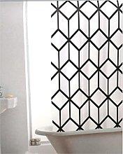 Geomtric Marble Bathroom Shower Curtain -