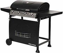 George Foreman GFGBBQ4B 4 Burner Gas Barbecue with