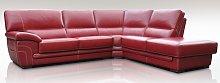Georgia 3 + Corner + 1 Genuine Italian Red Leather
