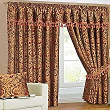 Georgia Burgundy Curtain Pairs Pencil Pleat with