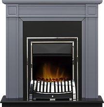 Georgian Fireplace in Grey with Chrome Elan