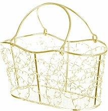 Gerberoy Wire Mesh Oblong Decorative Basket Lily