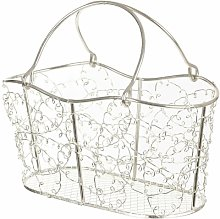 Gerberoy Wire Mesh Oblong Decorative Basket Lily