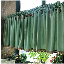 GEREP Kitchen Curtains Tier Valance Curtain, Cafe