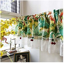 GEREP Short Curtains Bistro Curtain Tier Curtains