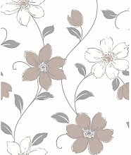 Gerken Taupe Wallpaper Lily Manor