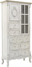 Germain Standard Display Cabinet Fleur De Lis