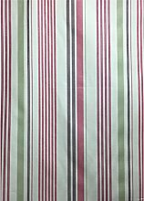 Germaine Pink, White, Olive Green Cotton Stripe