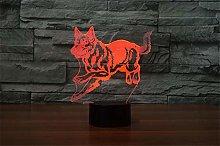 German Shepherd Running Dog 3D Night Lamp Hologram
