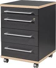 Germania Rolling Filing Cabinet Duo 42x45x60 cm