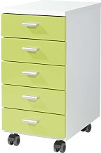 Germania Rolling Filing Cabinet White and Green