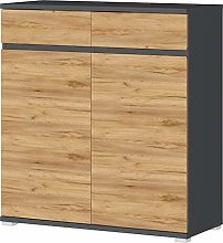 Germania Shoe Cabinet, Anthracite/Navarra-Oak-nb,