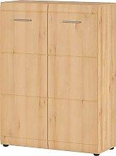 Germania Shoe Cabinet, Beech Wood, B/H/T 90/120/36