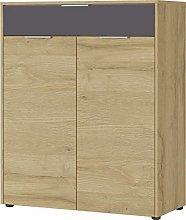 Germania Shoe Cabinet, Oak, Montierte Maße: ca.