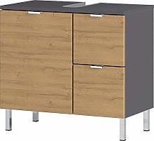 Germania Wash Basin Cabinet, Graphite/Grandson