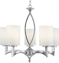 Germano 5-Light Shaded Chandelier ClassicLiving
