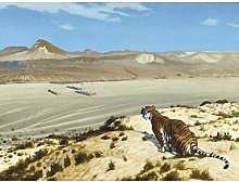 Gerome Tiger On The Watch Army Painting Large Wall