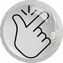 Gesture White White Crystal Drawer Handles