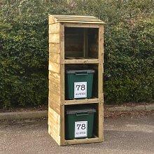 Getir Wooden Triple Bin Store Sol 72 Outdoor