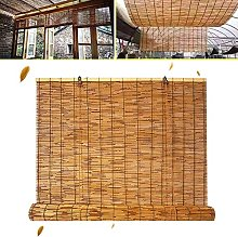 GeYao Blinds Natural Reed Curtain Roller Blind,