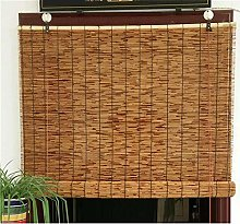 GeYao Natural Reed Curtain,Carbonization Roller