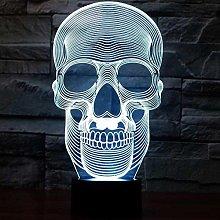 GEZHF 3D Illusion LED Lamp for Kids Skull Night
