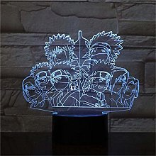 GEZHF 3D Light for Kids Naruto 3D Visual Night LED