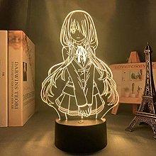 GEZHF 3D Night Light Anime Illusion Led Decor Led