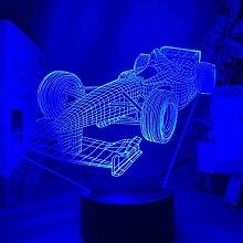 GEZHF 3D Night Light for Kids Toys Lamp F1 Formula