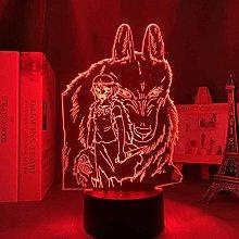 GEZHF 3D Night Light Japanese Anime Illusion Led