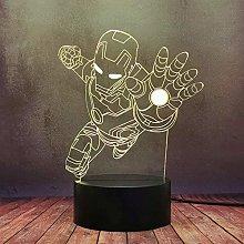 GEZHF Cool Iron Man Role Table Night Light LED