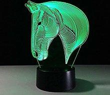 GEZHF Festival 3D Illusion Night Light Animal