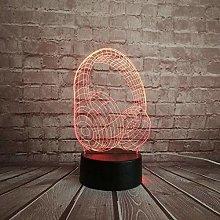 GEZHF Novelty Headphone Design 3D LED Lamp with