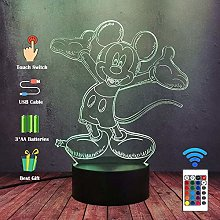 GEZHF Super Lovely Mickey Mouse Night Light 3D LED