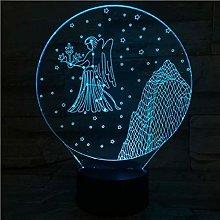 GEZHF Western Zodiac Signs LED Night Light 7