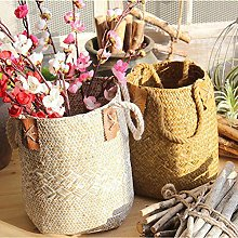 GEZICHTA Natural Woven Seagrass Basket Straw